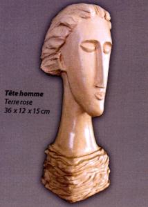 Fabienne Esnault sculptures d'argile
